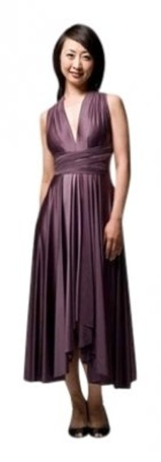 Item - Cavern Signature Satin Wrap In Long Formal Dress Size OS (one size)