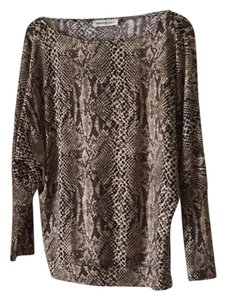 Veronica M Top Brown and beige