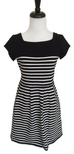 French Connection short dress Black Classic Striped Cotton on Tradesy