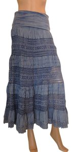 Now and Then Maxi Skirt blue