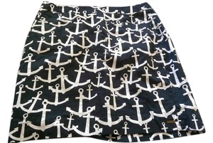 Hatley Anchor Nautical Preppy Skirt Navy