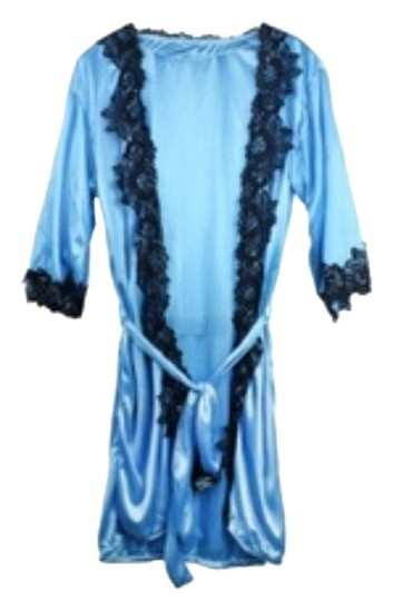 Ivysclothing.com BLUE SILK ROBE WITH MATCHING THONG