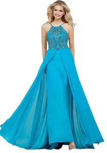 Jovani Prom Pageant Mother Of Bride Bridesmaid Power Mesh Dress