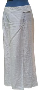 Max Studio Maxi Skirt White 100% linen