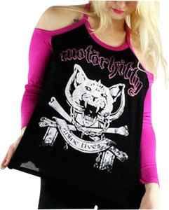 Rat Baby Motorkitty Goth Cats Dollskill T Shirt black