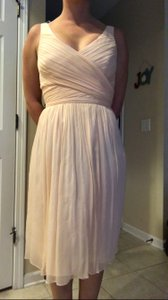 J.Crew Peach Heidi Silk Chiffon Dress