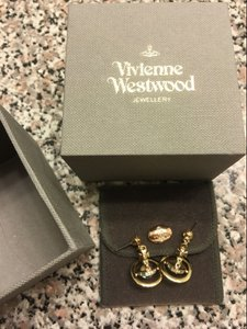 Vivienne Westwood Vivienne Westwood NEW PETITE ORB EARRINGS GOLD