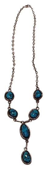 Preload https://img-static.tradesy.com/item/15638326/sterling-silver-and-turquoise-navajo-necklace-0-2-540-540.jpg