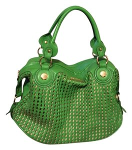 Melie Bianco Satchel in Lime green