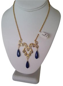 Alexis Bittar Elements Blue Lapis & Crystal Scalloped Goldtone Pendant Necklace