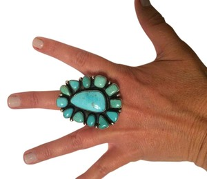 Bea Tom Authentic Carico Lake Turquoise Ring