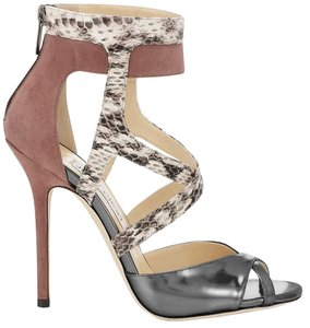 Jimmy Choo Freesia Snakeskin Pump Sandals