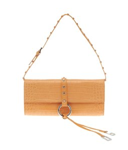 Dolce&Gabbana Dolce & Gabbana Leather Croc Embossed Satchel in Orange