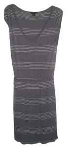 Banana Republic short dress Grey Drop Waist Striped on Tradesy