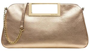 Michael Kors Metallic Leather Gold Berkley Large Pale Gold/Gold Clutch