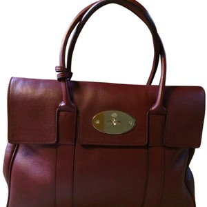 Mulberry Satchel in Oxblood (burgundy)
