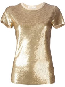 Michael Kors Sequin Party Classic Top Gold