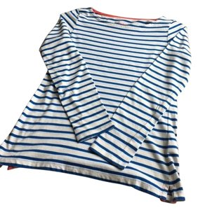 Boden Breton Cotton Stripes T Shirt Blue