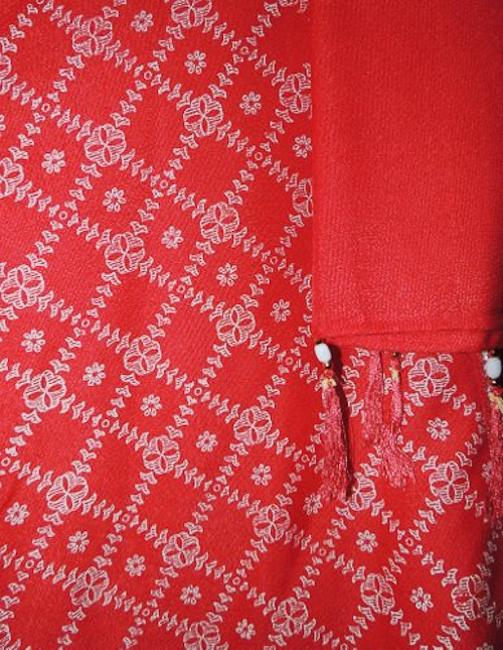 Red and white Maxi Dress by Other Shalwar Kameez