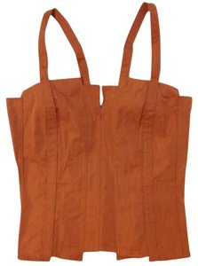 Bottega Veneta Burnt Bustier Top Orange