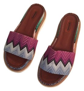 Missoni Knit Slip On Sandal Zigzag Flats