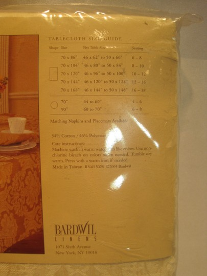 "Other Ivory Damask Tablecloth by Bardwil Linens (Tables 46""x120"" to 50""x124""; Seating 12 -- 16) - [ Roxanne Anjou Closet ]"