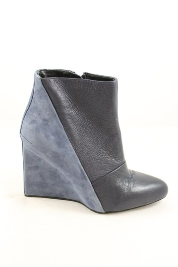 See by Chloé Chloe Suede Blue Leather Wedge Navy Boots