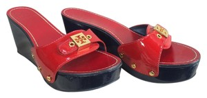 Tory Burch Patent Leather red Wedges