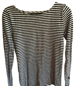 J.Crew T Shirt Black/White Stripe