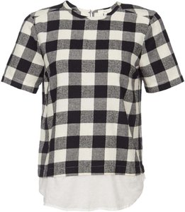 Cynjin for Scoop NYC Top Gingham