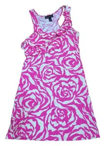 INC International Concepts short dress Pink&white on Tradesy
