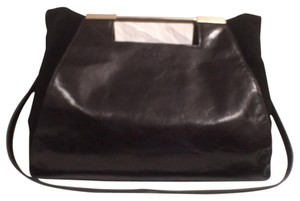 Halston Leather Suede New/nwt Pusre Shoulder Bag