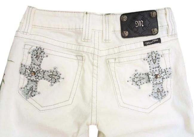 Item - Oyster Light Wash White Cross #jpr5006 Bcw Just The Touch Of Bling Perfect Summer Denim Scarce. Boot Cut Jeans Size 27 (4, S)