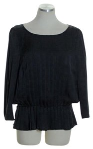 Classiques Entier Pleated 3/4 Sleeve Silk Top
