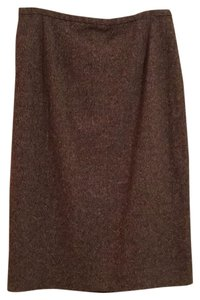 Ann Taylor Skirt Brown/Cream