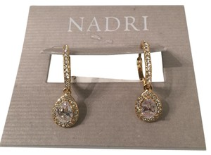 Nadri Cubic Xirconia Pave Drop Earrings