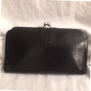 Coach Coach Vintage Black Leather Kisslock Wallet W/Coin Compartment