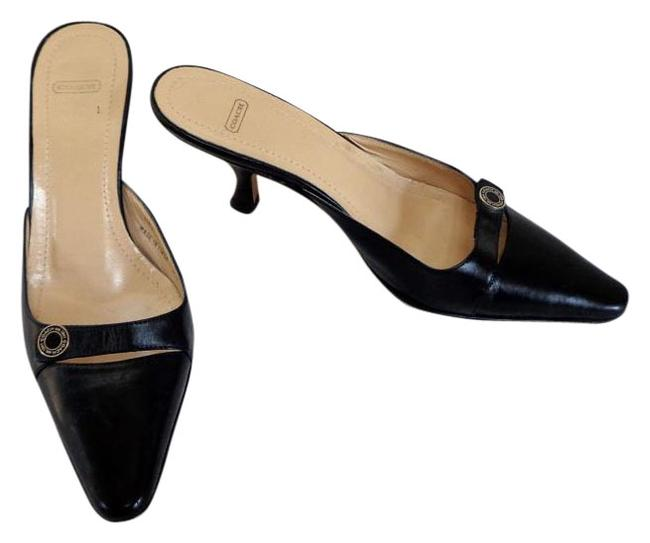 Item - Black Made In Italy 'francesca' Leather High Heel Mules/Shoes 1/2 B Mules/Slides Size US 5.5 Regular (M, B)