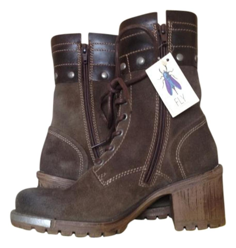 FLY London Olive Brown Lask Boots/Booties Boots/Booties Lask d9a618