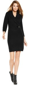 Calvin Klein Sweater Knit Faux Wrap Dress