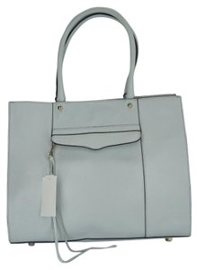 Rebecca Minkoff New With Defect Fringe Envelope Pocket Magnetic Closure Tote in Blue Grey