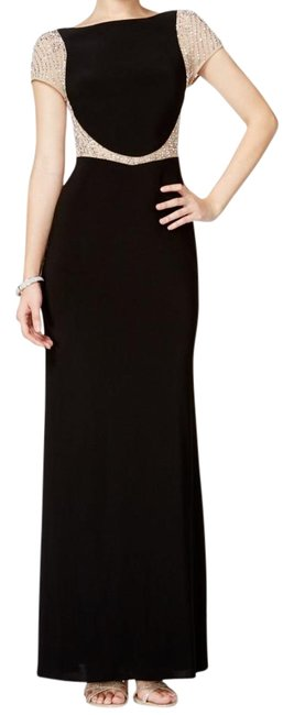 Item - Black and Nude Crystal Xs8135 Long Formal Dress Size 6 (S)
