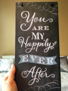 Francesca's Black W/White Writing You Are My Happily Ever After Sign Other