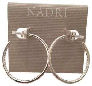 Nadri Cubic zirconia stones pave Hoop Earrings