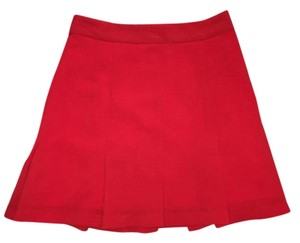 Nanette Lepore Pleats Mini Mini Mini Skirt Red