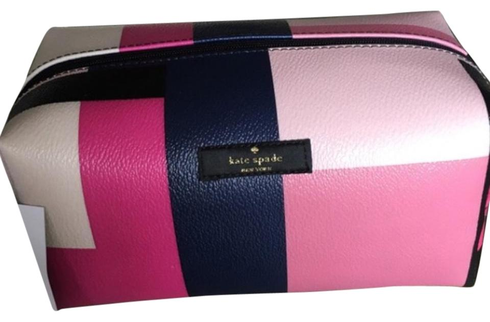 fef7abdd41b8 Kate Spade Medium Davie Brightwater Drive Color Block Party (925) Cosmetic  Bag