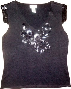 M.S.S.P. Top Black, Sequins