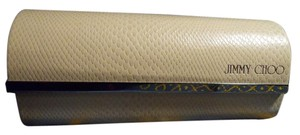 Jimmy Choo faux snakeskin sunglass case