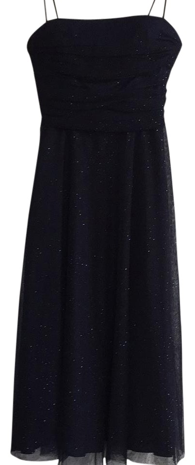 Eliza J Navy Blue Tulle Formal with Sequins