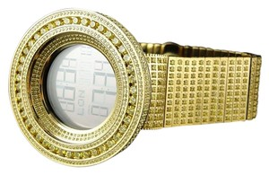 Gucci Mens 52mm Bezel I Gucci Digital Canary Simulated Diamond Watch 50 Ct